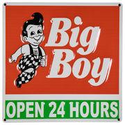 アメリカン ダイナー ダイカット エンボス メタルサイン  BIG BOY