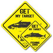 釣りステッカー カツオ 鰹 Bタイプ 2枚セット FS082 フィッシング ステッカー 釣り グッズ