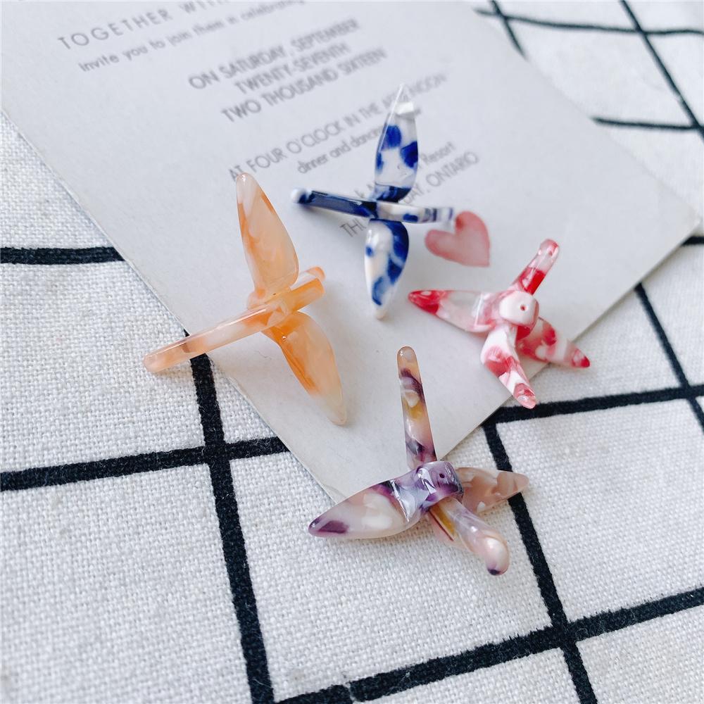 折り鶴 チャーム パーツ アクセサリーパーツ 手作り 材料 ハンドメイド 手芸 アクリル パーツ 折り紙