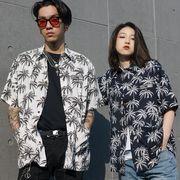 P10442 男女兼用 SALE 紫外線対策 日焼け止め  メンズ  カップル 渋谷風 半袖 シャツ T-シャツ