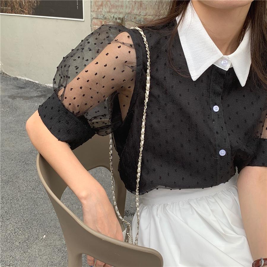 2021年春夏新作 レディース 韓国風 シャツ スカート 気質 通勤 かわいい 2色フリー