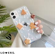 クッキースマホケース ma【即納】クリアスマホケースミルク iphone12 11 pro ケース 透明 mini