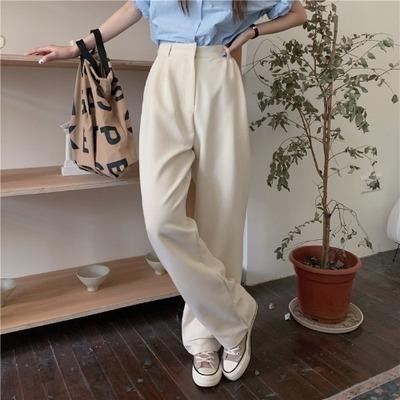2021年春夏新作 レディース 韓国風 パンツ ロング 通勤 ハイウェスト 気質 ファッション 2色S-L