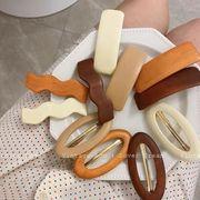 新作 ヘアアクセサリー ヘアピン 木製 ビンテージ レディースファッション