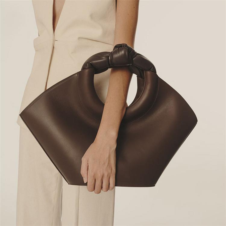 上品見えが狙える 早い者勝ち デザインセンス ファッション 結び目 ハンドバッグ キャットウォーク