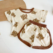 夏 ベビー服 赤ちゃん 韓国スタイル Tシャツ パンツ 2点セット 女の子 男の子 キッズ服