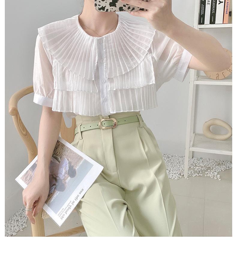2021年春夏新作 レディース 韓国風 シャツ 半袖 シフョン 大好き ゆったりする 優しい 3色フリー