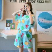 パジャマレディース  パジャマ 半袖 上下セット パジャマ  韓国風 ルームウェア 部屋着