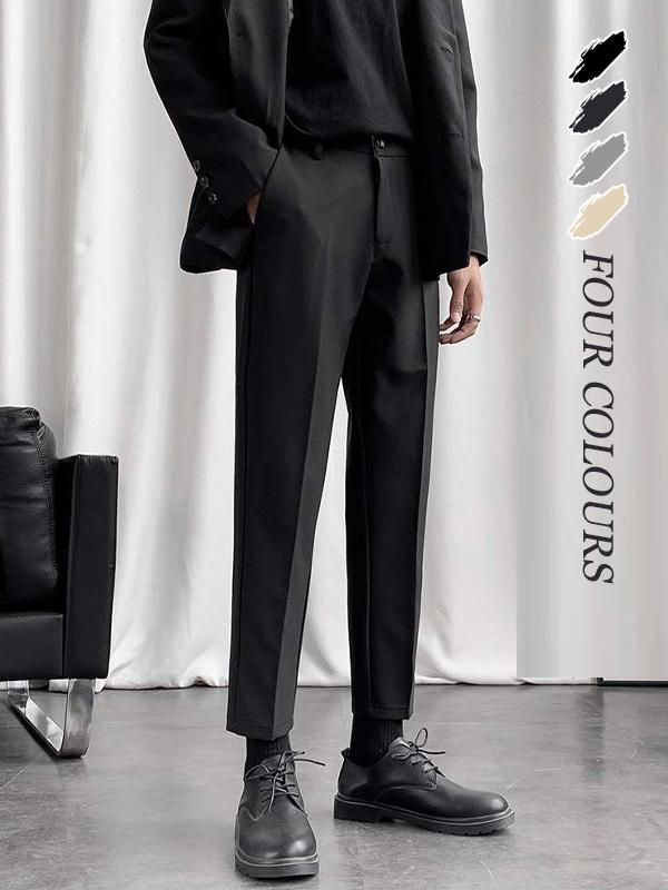メンズボトム スーツ ロングパンツ スリム 全10サイズ ☆全3色