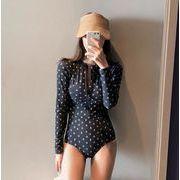 韓国ファッション ビキニ 水着  長袖水着 レディース カジュアル 一体型