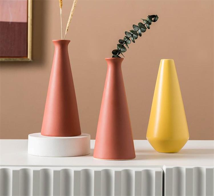 独自のファッションセンス  北欧 花瓶 装飾 リビングルーム セラミック エレガント