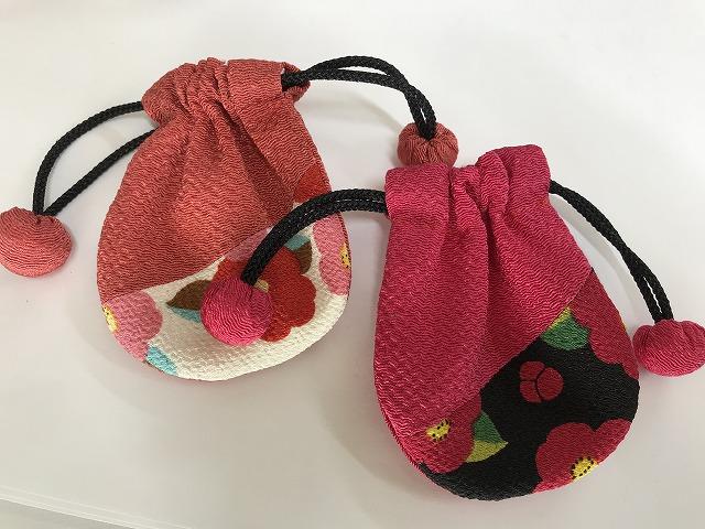 [くるみ巾着 小]日本製*京友禅和小物手作り*『巾着袋』