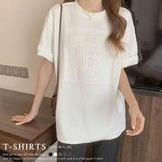 立体ロゴtシャツ 韓国チュニックロンT 即納