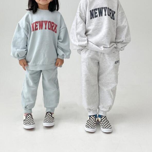 ブラウス+パンツ 女の子 男の子 英字セットアップ 子供服 キッズ 韓国ファッション