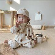 韓国風子供服 ベビー服  小さなクマ 2点セット長袖Tシャツ+パンツ   秋新品