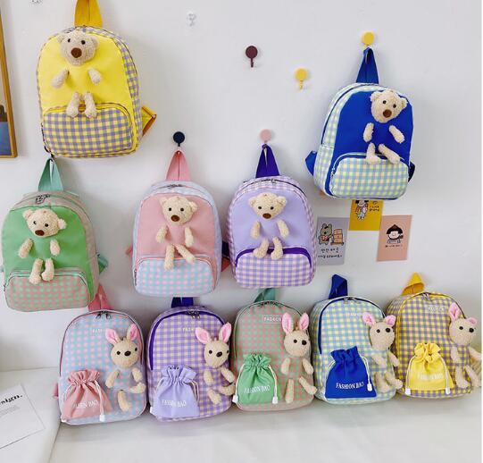 バッグ 鞄 カバン リュック キッズ 子ども かわいい チェック カジュアル トレンド 人気