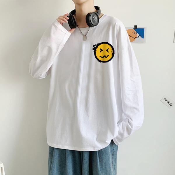 メンズトップス Tシャツ 長袖 カジュアル 秋 冬 男女兼用 大きいサイズ ストリート系☆全2色