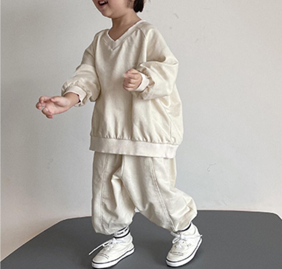 初秋新作 子供服セット トップス+ズボン 可愛い 子供服 キッズ服  2点セット