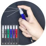 アトマイザー付ボールペン 同色5本セット【6色】スプレー ボールペン 除菌 携帯 アロマ 香水 便利グッズ