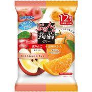 ぷるんと蒟蒻ゼリーパウチ 蜜リンゴ+温州みかん