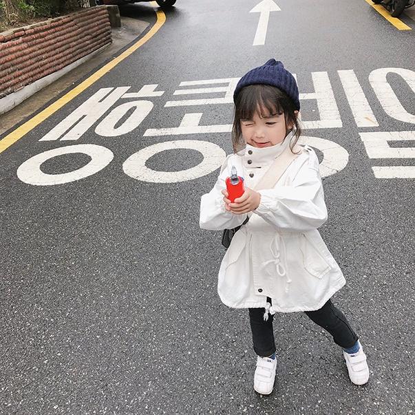 【KID】韓国風子供服 ベビー服  おしゃれ 長袖 コート ポケット付き