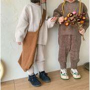 INS 秋冬新品  韓国子供服 セーター OR カーディガン パンツ  シンプル  男女兼用 可愛い 秋服