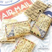 """★L&A original charm★レトロでリアルなエアーメールチャーム★""""Air Mail""""K16GP&金古美★"""