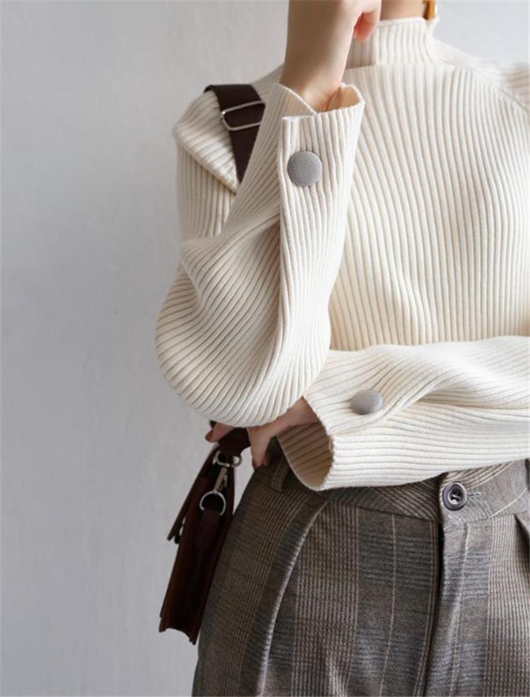 Fashions限定発売 通勤する 秋冬 簡約 気質 ベースシャツ タートルネック セーター スリム ファッション