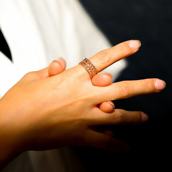 ボヘミアンリゾート リング イヤカフ 2Way 指輪 ステンレス 金属アレルギー対応 インスタ