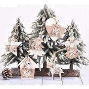 木製チャーム クリスマス飾り クリスマスグッズ 部屋飾り オーナメント ツリー飾り 壁飾り