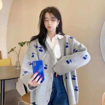 松 怠惰な 襟 セーター アウターウェア 女性服 春秋 新しいデザイン アンティーク調
