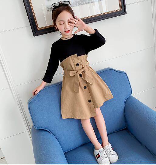 初秋の女の子の子供服かわいいドレス子供服子供シャツ
