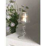 自宅 装飾 個性 レトロ ガラス 燭台 透明な テーブルランプタイプ