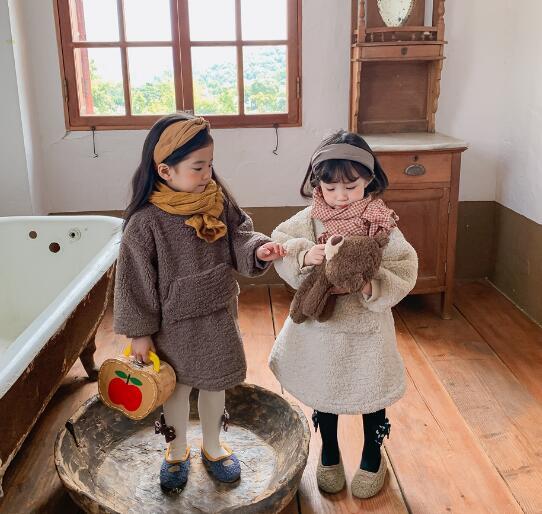子供服 ワンピース キッズ 子ども 秋 もこもこ かわいい カジュアル トレンド 人気
