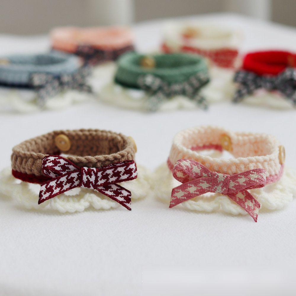 ペット用品 首輪 カラー 小型犬 ねこ ニット編み ペットファッション かわいい