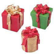 クリスマスボックスモチーフ アソート 3個【クリスマス飾り】